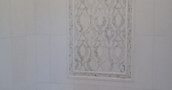 Detail This Shower Features The Elegant Damask Pattern