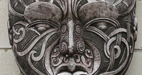 Maori carving masks art and stone