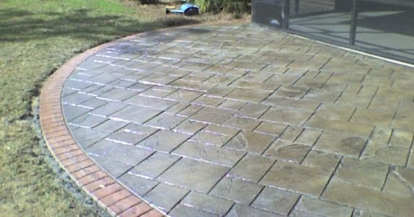Stamped concrete in beaumont texas repin click for more for Concrete house texas