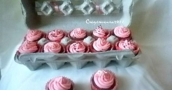 cupcake carrier made of egg carton