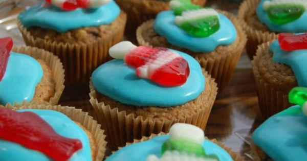 Healthy Birthday Cupcakes Healthy Birthday Fishing Cupcakes Yummy Food