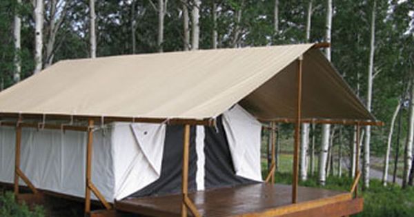 Cimarron platform tents are the perfect outdoor getaway for Tent platform construction