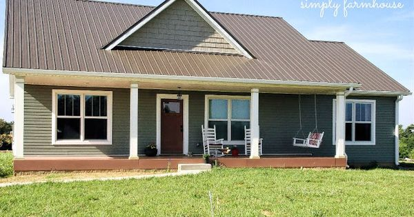 Tin roof color for the home pinterest tins roof for Metal roof 1500 sq ft house