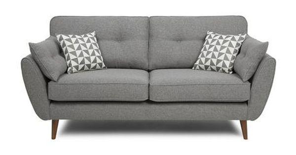 Zinc 3 Seater Sofa Zinc Dfs Scandi Look Pinterest