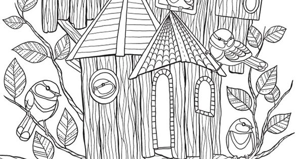 Welcome To Dover Publications Free Coloring Book Page Whimsical Tree Coloring Page