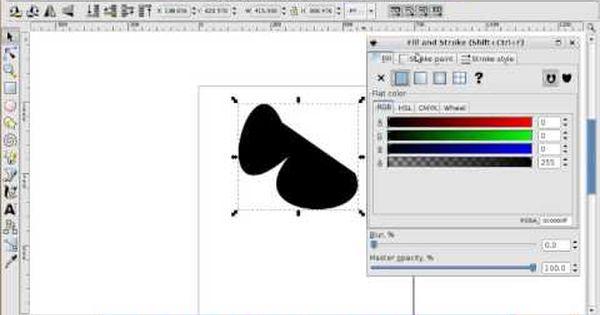 inkscape tutorial 1 gimp schlange vektor hahn