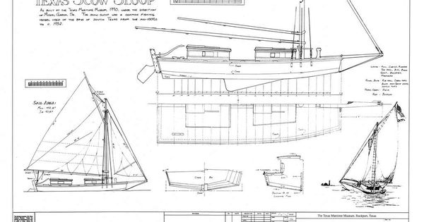 Plans for a gaff-rigged Texas Scow sloop. I think a ...