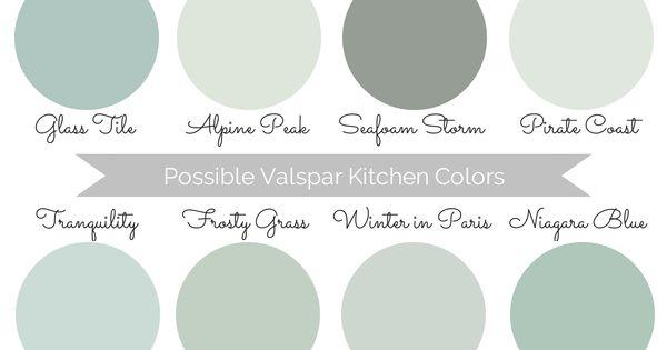valspar kitchen paint color options - gray/blue/light teal | diys