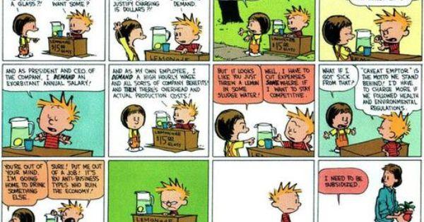 Economic Jokes Calvin And Hobbes Comics Calvin And Hobbes Best