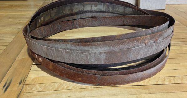 Single Bourbon Whiskey Barrel Metal Hoop Band Rings
