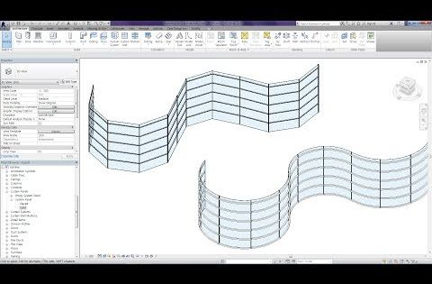 Revit Tips Curved Curtain Wall Youtube Revit