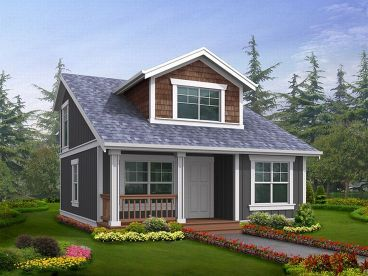 2 Bed 2 Bath 1000 Sq Feet Idea Use The Upstairs As A Bunk Room For Grandkids Etc Cottage Homes House Plans Cottage Plan