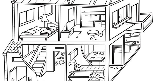 Dwelling House Black And White Cartoon Illustration Vector Download A Free Preview Or High Qualit Dream House Drawing House Drawing Black And White Cartoon