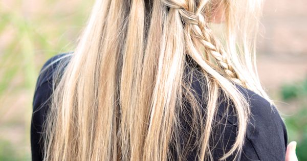 ways to braid long hair | waterfall braid, Partial French Braid Cascade