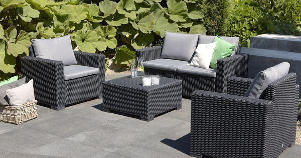 Alibert california lounge set makro salon de jardin for Patio furniture covers makro
