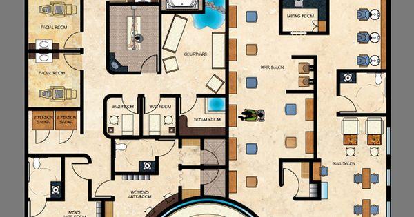 Spa floor plan gurus floor for Absolutely you salon