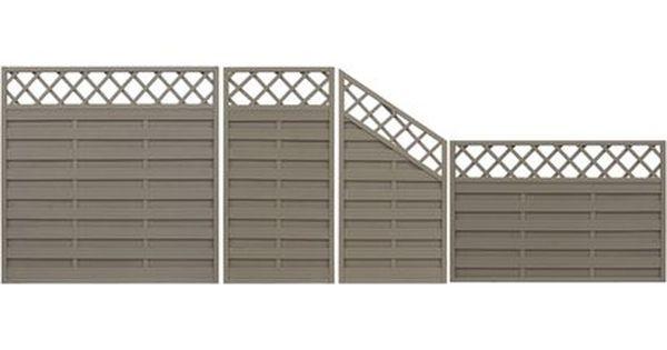 Sichtschutzzaun Anschlusselement Country Grau 180 X 120 Cm Auf 90 Cm Kaufen Bei Obi Sichtschutzzaun Sichtschutzelemente Zaun