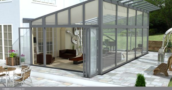 Quality german manufactured glass houses glass rooms verandas contemporary conservatories - Verriere dak ...