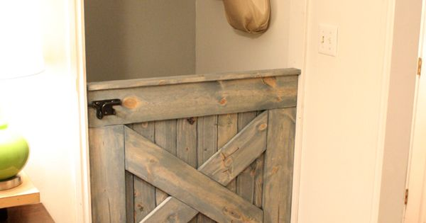 GREAT IDEA AT THE END OF STAIRS IN THE HOUSE. LOVE!! barn