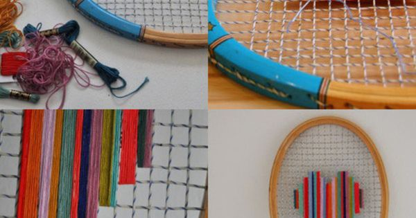 Old tennis racket DIY ideas