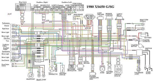 Some Wiring Diagrams Yamaha Xs650 Forum Electrical Wiring Diagram Xs650 Bike Repair