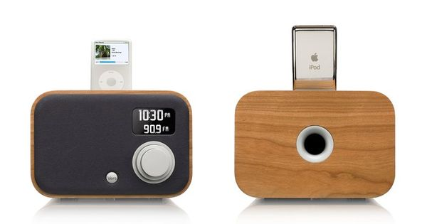 Wooden iPod/iPhone Radio Alarm Clock Designed by Vers