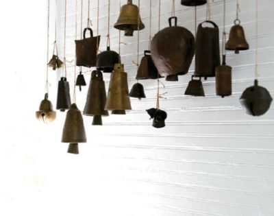 bells. | I could collect bells from those rusty windchimes that don't
