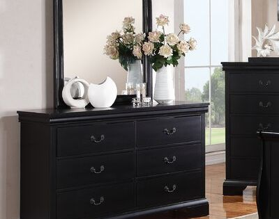 A J Homes Studio Venice 6 Drawer Double Dresser With Mirror Wayfair In 2020 Dresser With Mirror Bedroom Dressers French Inspired Bedroom Decor