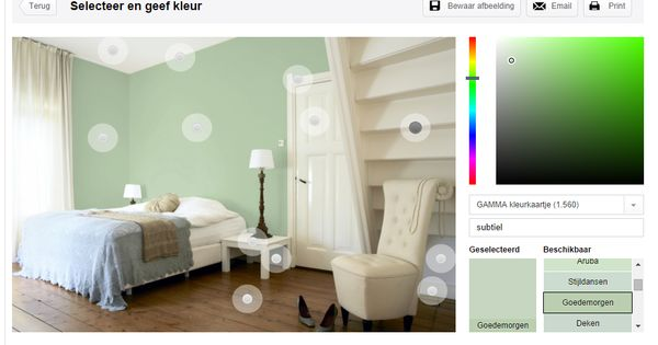 slaapkamer gamma goedemorgen groene muur  Moodboard  Pinterest