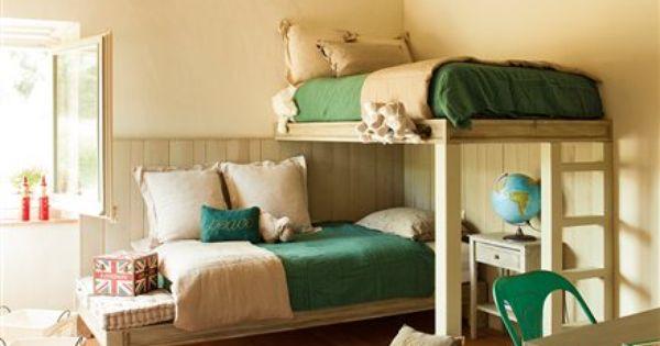 Dormitorio con literas en l dormitorios infantiles - Literas infantiles originales ...