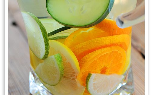 Citrus Cucumber Spa Water (there's no recipe, but do you really need