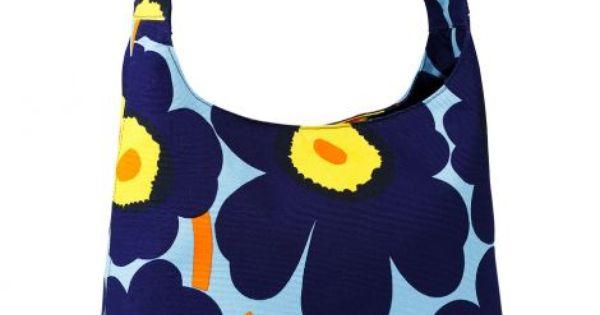 Marimekko Koirat Laukku : Unikko glaudine laukku v sininen keltainen