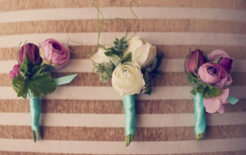 purple + teal--- small simple4 bridesmaids