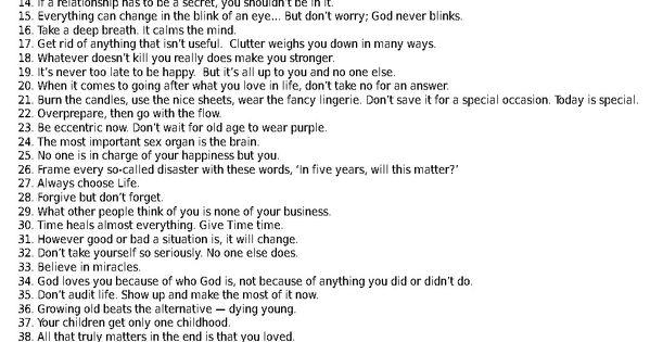 90 years worth of good advice.. take advantage