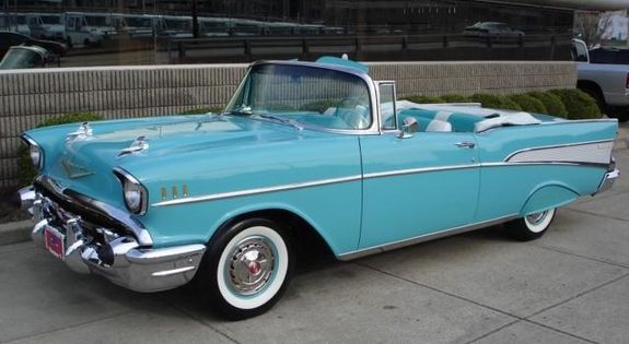 My dream car right here! 57 Chevy convertible. One day!