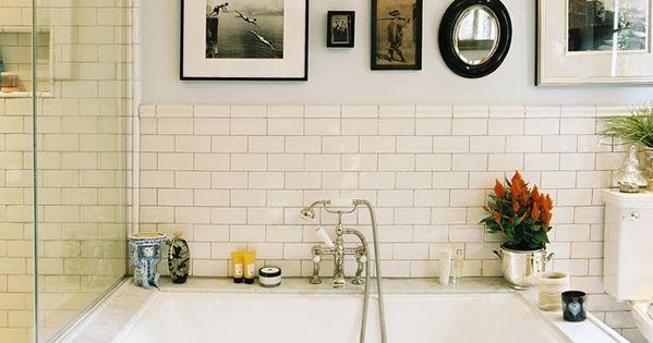master bath option Subway Tile Bathroom. I'd take a bath more often