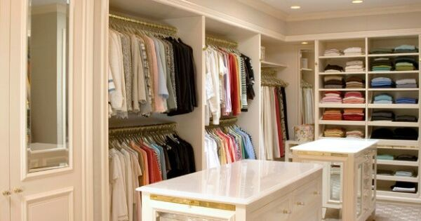 A Couples Walk In Closet Home Walk In Closets