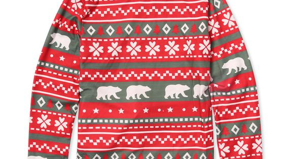 2 Piece Christmas Bear Print Family Matching Pajamas Set Bear