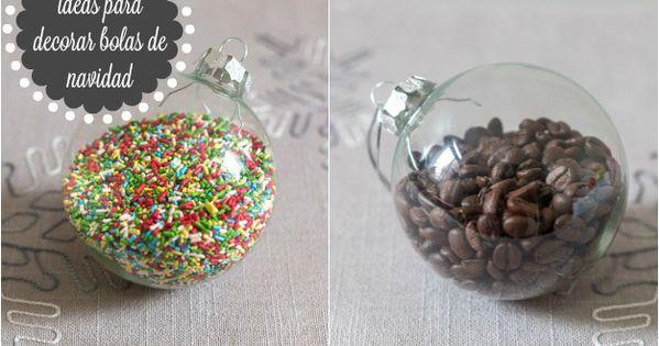 6 ideas para decorar bolas de navidad bolas de navidad - Bolas transparentes para decorar ...