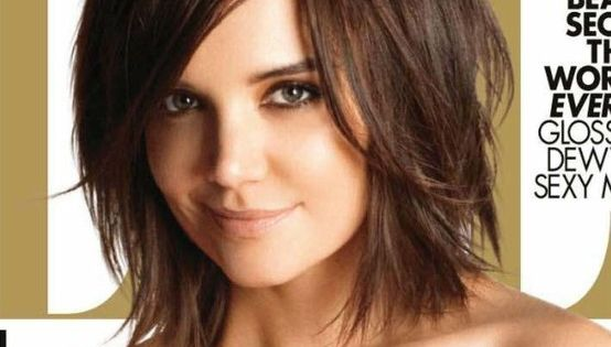 katie holmes short brunette layered hair... another short hair style I'm considering