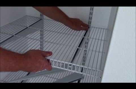 Rubbermaid Closet Organizer Installation Cut Corners