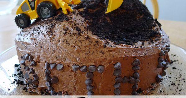 Easy Construction Cake...Dan's retirement cake?