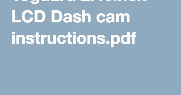 toguard dash cam instructions
