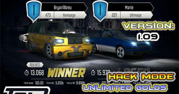 Top Speed Drag Fast Street Racing 3d Dinheiro E Ouro Infinitos