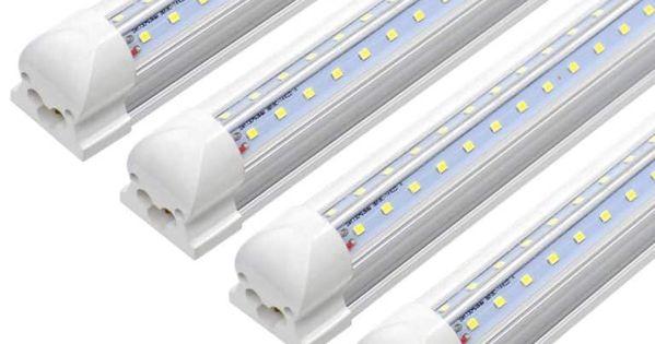 Ykunled 8ft Led Light Fixture 7200 Lumens With High Output 4 Pack Tube Light Shop Light Fixtures Led Tube Light