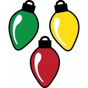 Silhouette Design Store Christmas Light Tag Vintage Christmas Lights Christmas Lights Clipart Silhouette Christmas