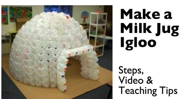 How to build a milk jug igloo milk jug igloo and milk jugs for How to build an igloo out of milk jugs