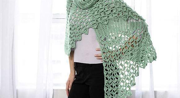 Celtic Knot Shawl To Crochet Free Pattern Crochet