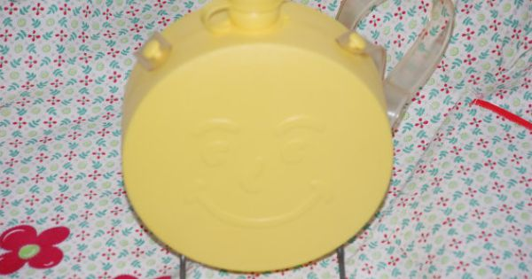 Vintage 1960's promo yellow Kool-aid Man canteen by ...