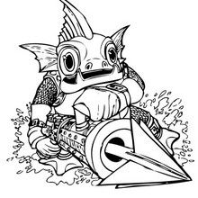 Gill Grunt Coloring Page Coloring Page Super Heroes Coloring